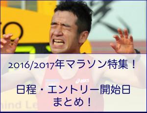 今年こそ…2016年マラソンまとめ!