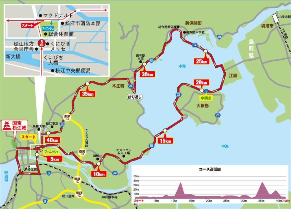 国宝松江城マラソン,2018,日程,エントリー,コース,制限時間
